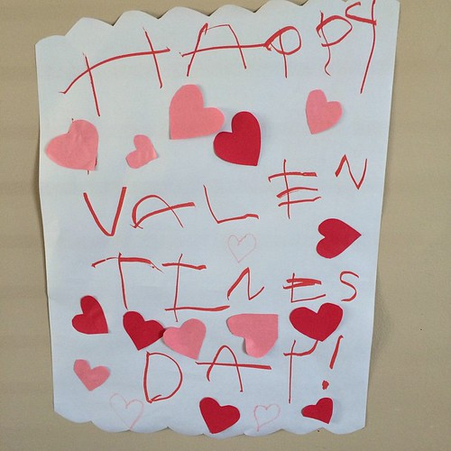 Happy Valentine's Day from my 3 year old son! 💞