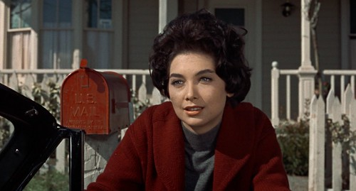 "Suzanne Pleshette in Hitchcock's ""The Birds"""
