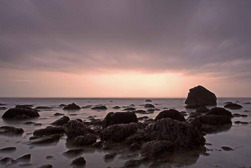 uk longexposure winter sea sky beach wales clouds landscape rocks february northwales 2015 llwyngwiril craighannah