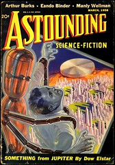 Astounding Vol. 21, No. 1 (March, 1938). Cover Art by H. Wesso