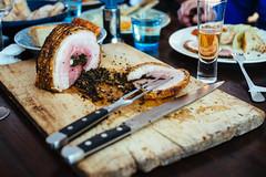 Porchetta: sliced