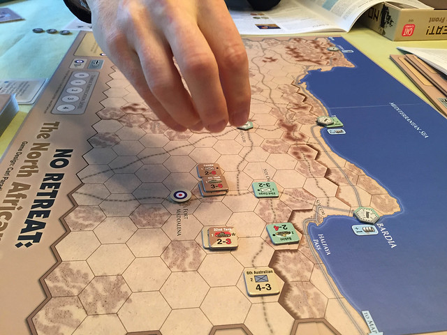 No Retreat: The North African Front, setting up Map 3