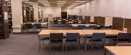 Lower Level Tables and Carrels. Photo courtesy of the Media Commons
