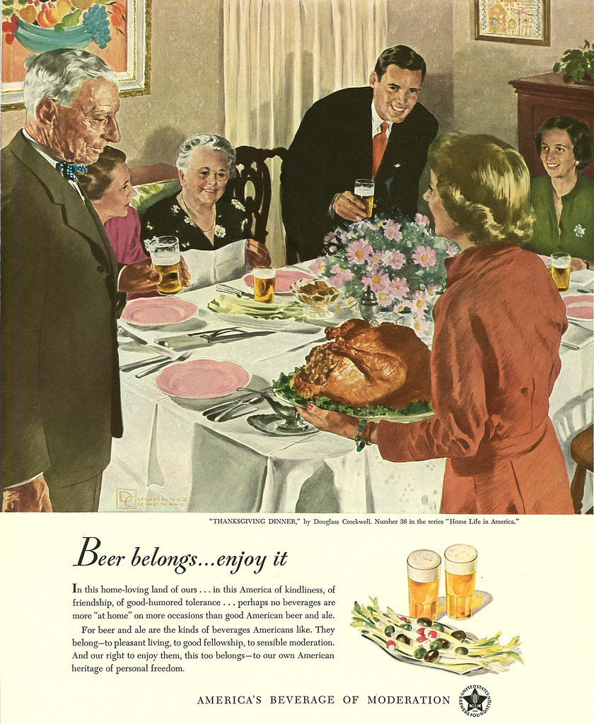 036. Thanksgiving Dinner by Douglass Crockwell, 1949