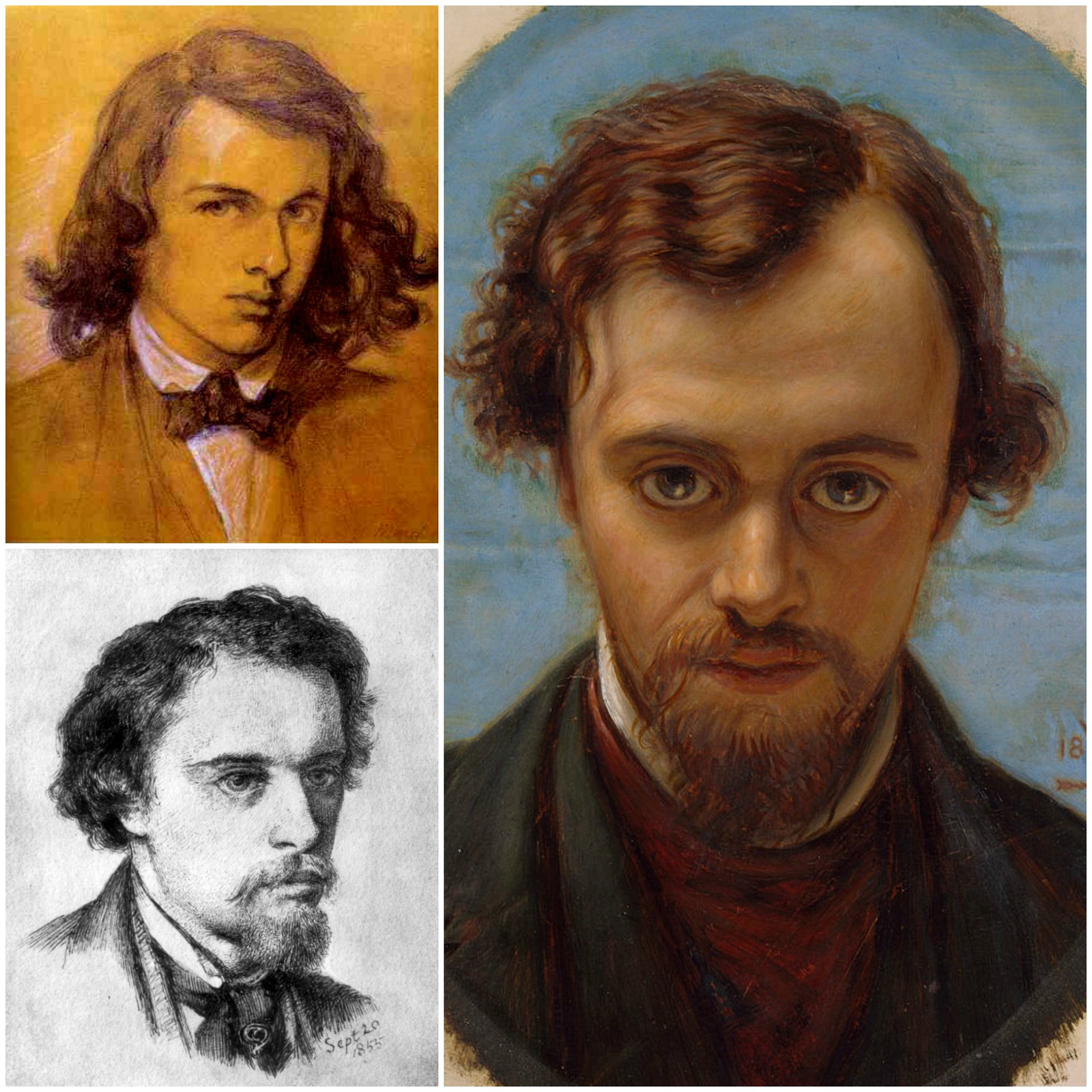 Dante Gabriel Rossetti in his early twenties