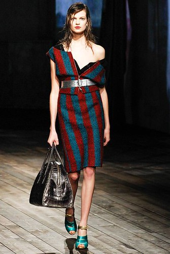 Stripes #Print #Fashion Trend for Fall Winter 2013 | Prada Fall Winter 2013 #mfw #trends