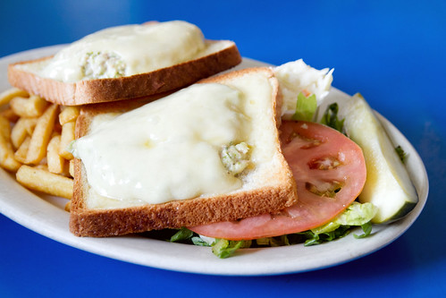 Tuna melted with swiss cheese