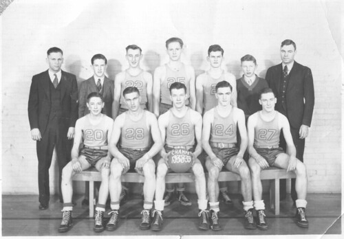 1938-1939 Westfield Wisconsin Basketball Team