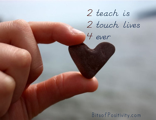 """2 Teach Is 2 Touch Lives 4 Ever"" Word Art Freebie"