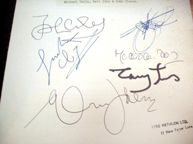 monty python, signed