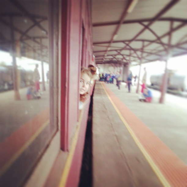 Girl on a train #happy365 #2013pad #ballarat #Emily #heritageweekend