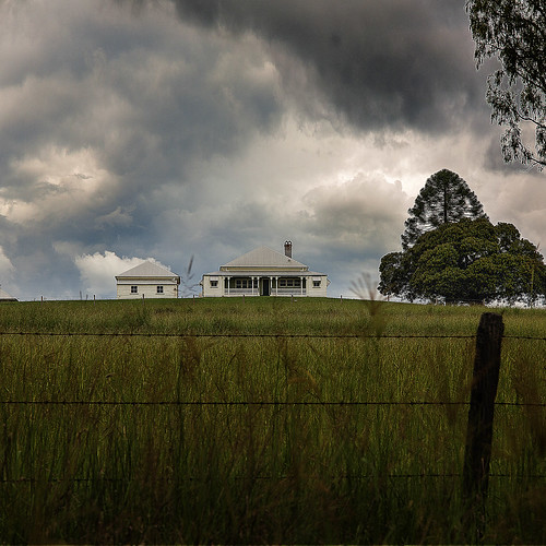 storm farmhouse landscape day cloudy farm queensland verandah paddock queenslanderhouse rosevalequeensland
