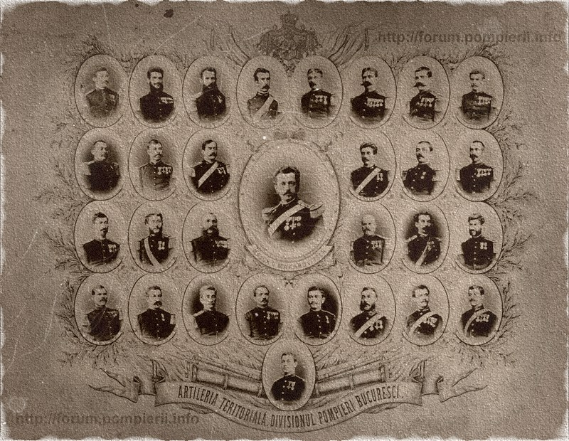 Artileria Teritoriala, Divisionul Pompieri Bucuresci, comandant Maior Ghe. Makarovitsch in anul 1877.