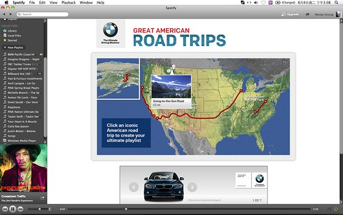 2013 BMW Great American Road Trips campaign@Spotify_08