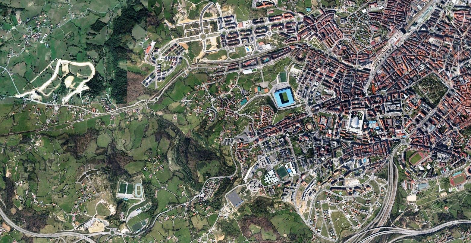 después, urbanismo, foto aérea,desastre, urbanístico, planeamiento, urbano, construcción,Oviedo, Asturias, Uvieu, Asturies, Paniceres