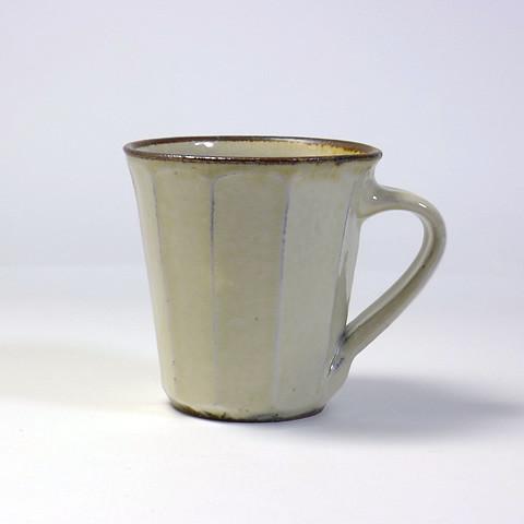 ふもと窯「マグカップ/面取り(白)」