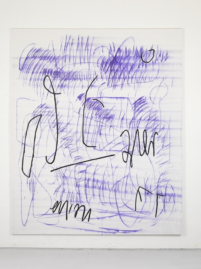 12 Jana Schröder, Spontacts, L 7, 2012, 240 x 200 cm, Kopierstift und Öl auf Leinwand
