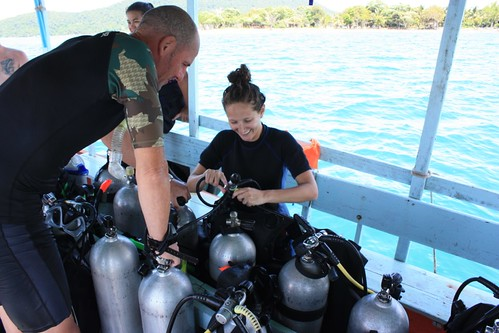 checking our equipment after the dive