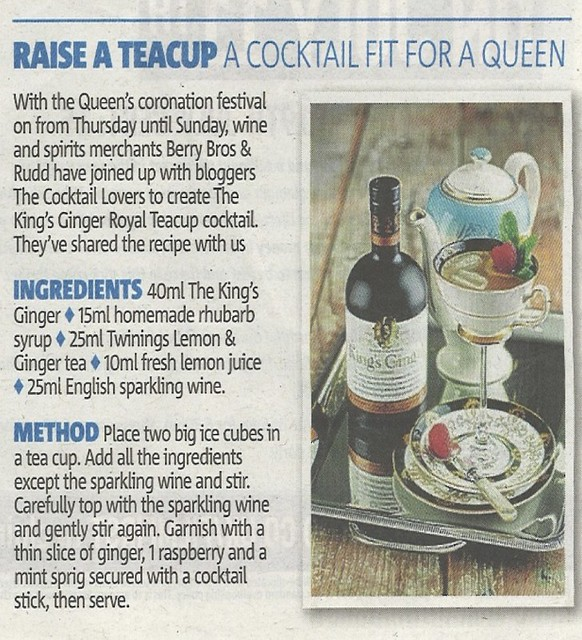 The Cocktail Lovers' Royal-Tea Cup for the Queen's Coronation Festival
