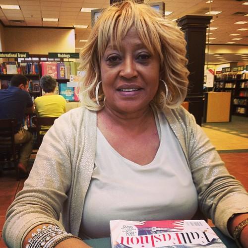 My momma enjoying the time in Birmingham!