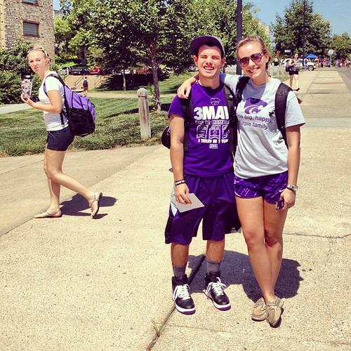 Please, anyone, tell me what is going through the head of the girl in the background. #kstate #ksu