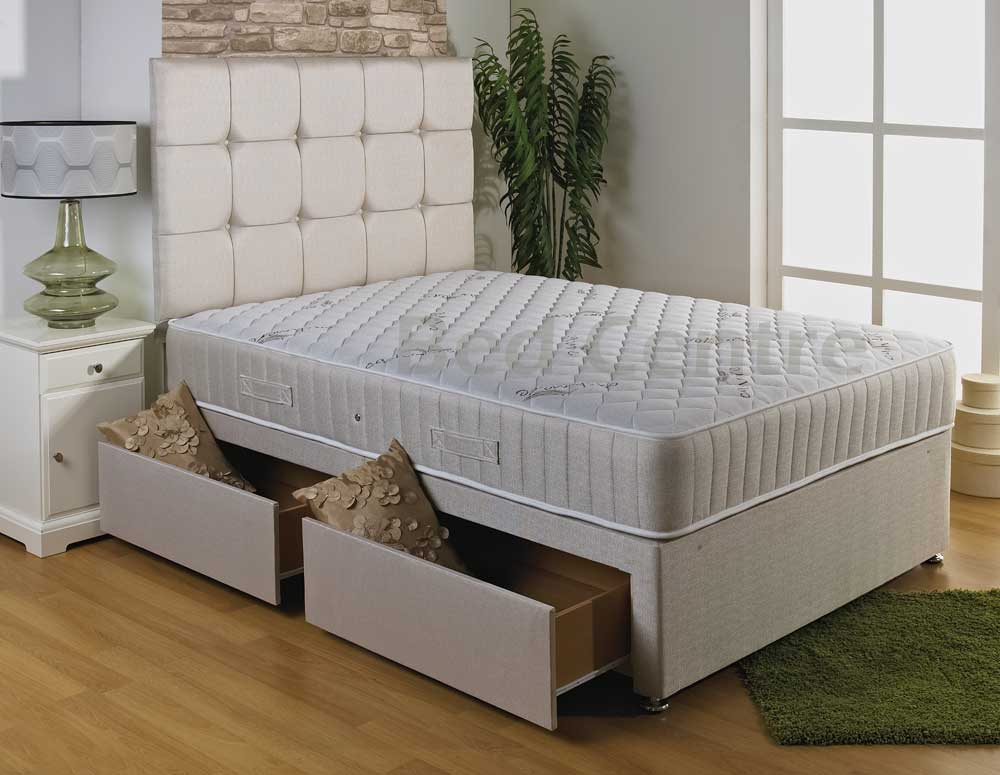 Quilted Memory Foam Bed Divan Mattress Headboard 6ft 5ft King 4ft6 Double 3ft Ebay