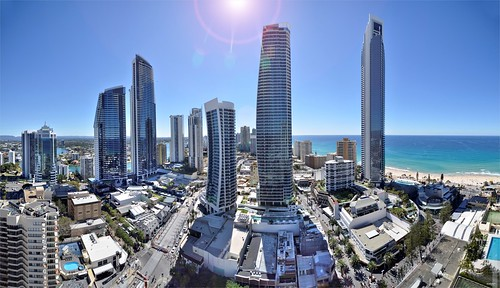View From 30th Floor Grand Chancellor Surfer's Paradise