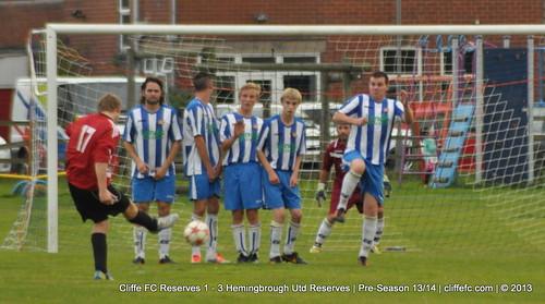 Cliffe FC 2ndXI 1 - 3 Hemingbrough Utd Reserves 4Sept13