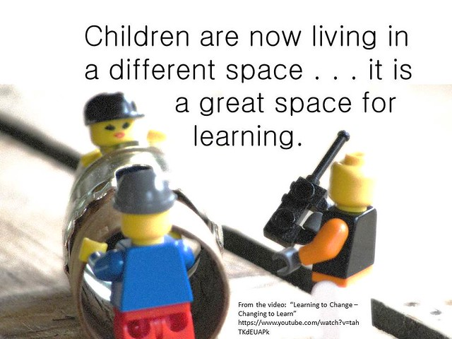 "Educational Postcard: ""Children are living in a different space..."""