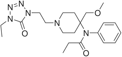 alfentanil chemical structure