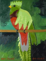 "Costa Rica Quetzal (Parrot) (48"" x 36"" oil on canvas)"