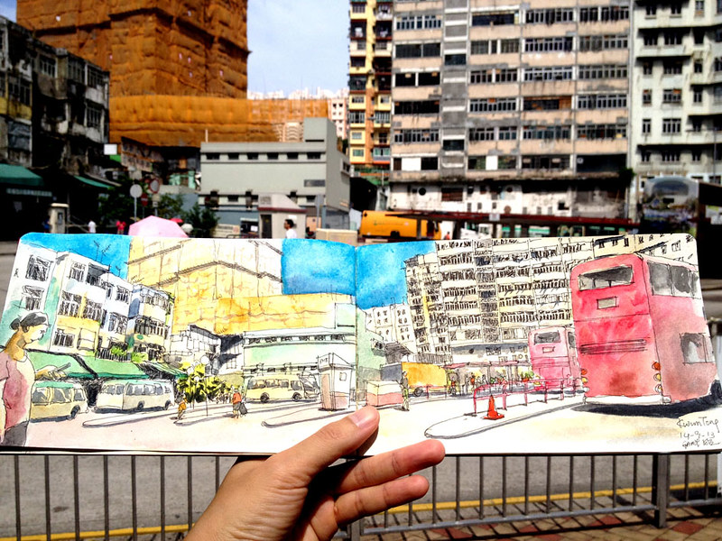 Sketching a Bus Terminus