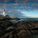 Sunset at Portland Head Light by aboutrc