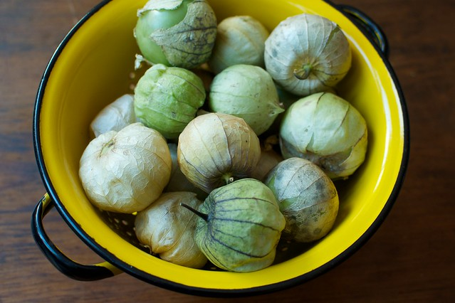 a pound and a half of tomatillos