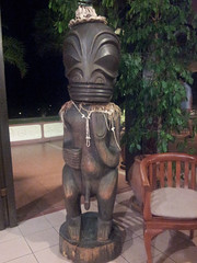 carving, art, sculpture, tiki, statue,