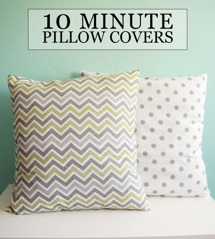 Make Easy Decorative Pillow Cover : DIY Tutorial // Sew 10 Minute Throw Pillow Covers Aileen Barker
