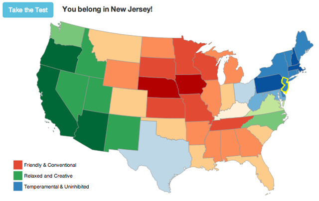 I belong in... New Jersey???