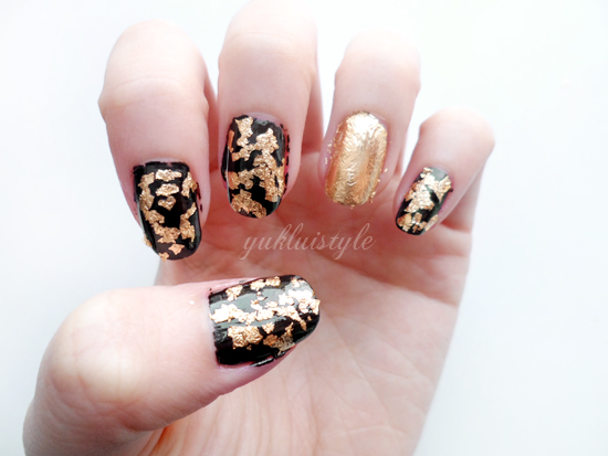 DIY Gold Leaf Manicure Tutorial