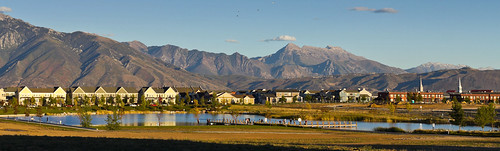 Oquirrh Lake's McMahon Bay in Daybreak Utah