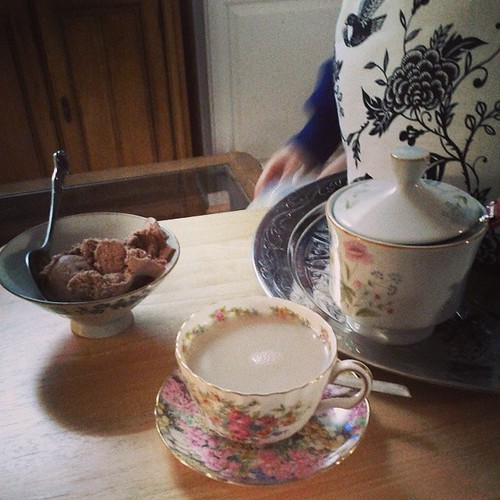 Tea & ice cream. #onedayhh