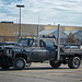 Small photo of Crazy Pickup-Truck With 18 Wheeler Exhaust Stacks