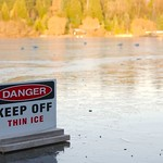 Danger - Keep off thin ice