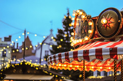 The carousel on the Town Hall square