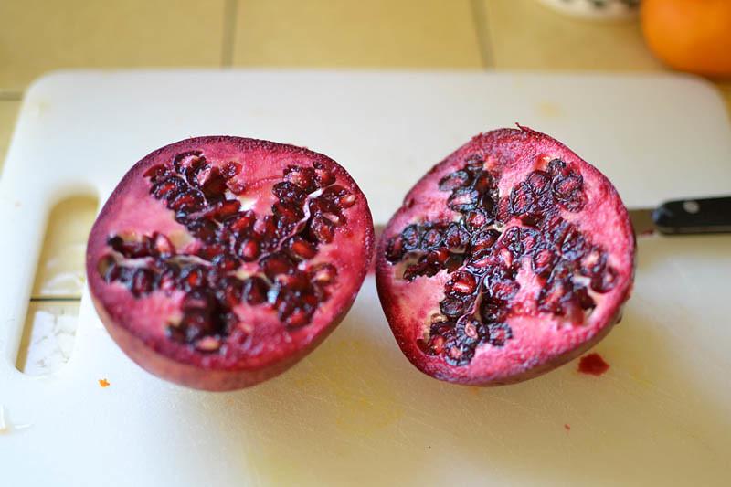 Spinach Pomegranate Salad with Pumpkin Vinaigrette via LittleFerraroKitchen.com