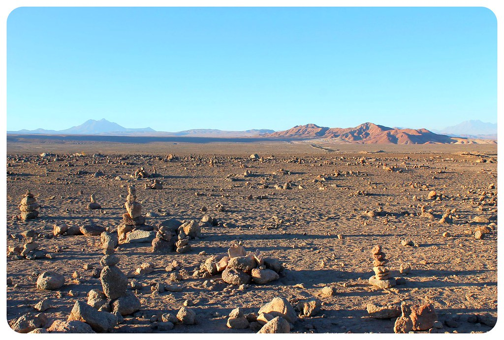 atacama desert chile lunar landscape with rocks