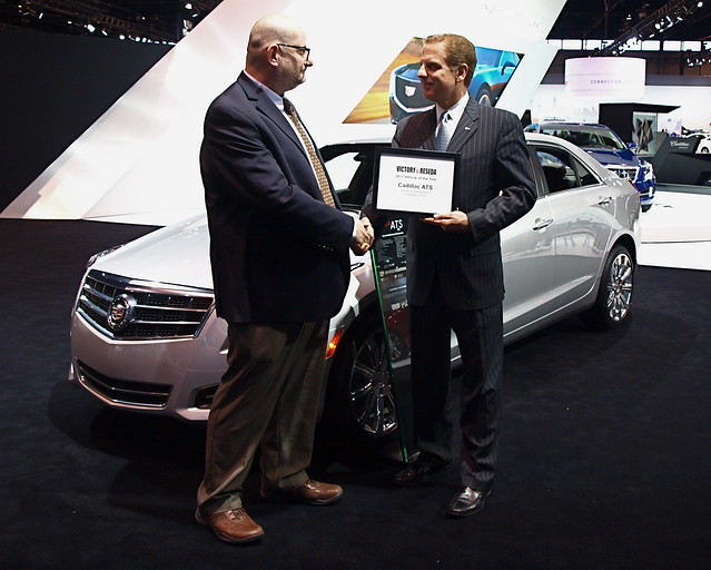 2013 Vehicle of The Year Award Handoff