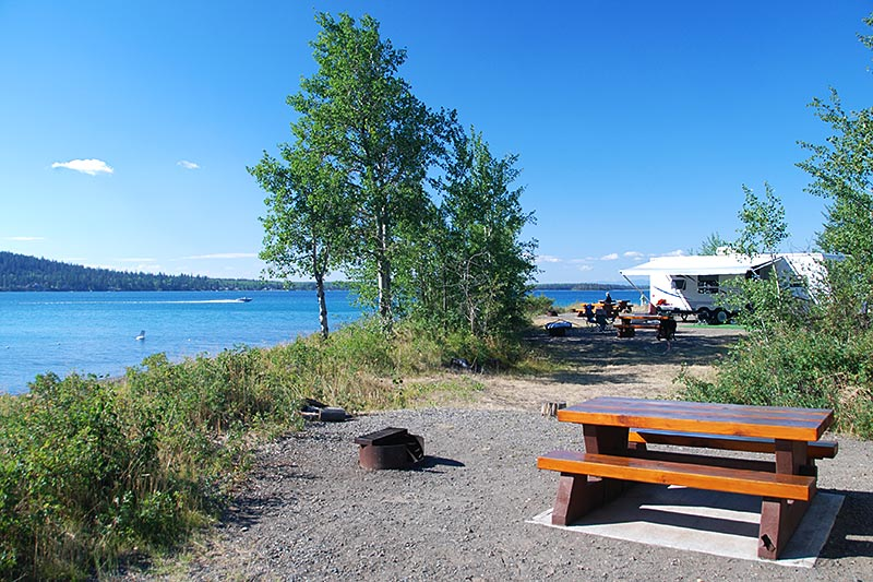 Arrowhead Campground, Green Lake Provincial Park, 70 Mile House, Cariboo, British Columbia, Canada