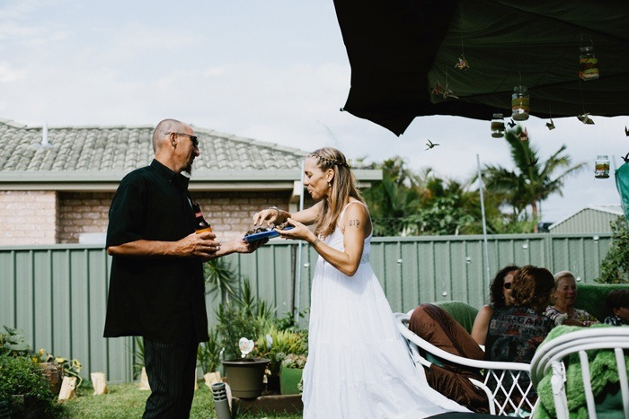 Backyard Wedding - oyster