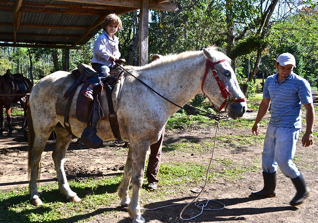 finca ixobel - horseback riding tour - little kids