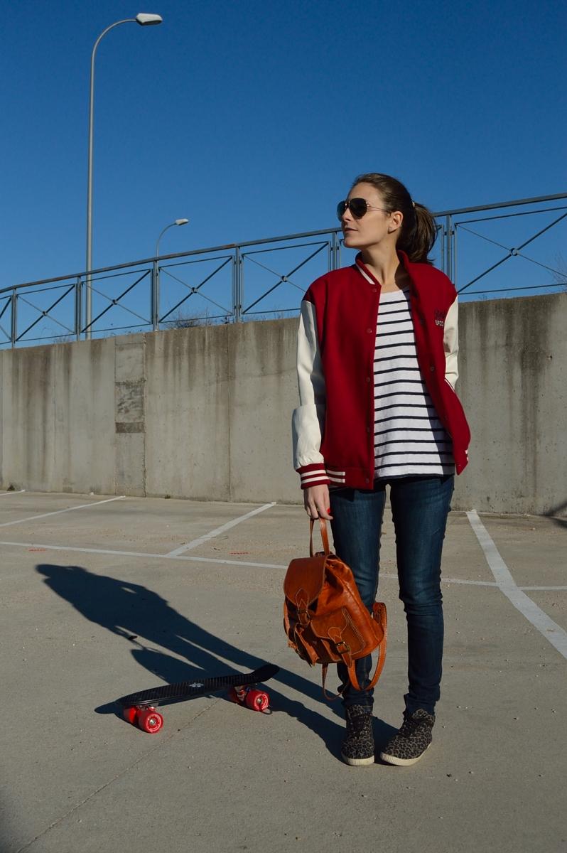lara-vazquez-madlula-blog-skater-mood-streetstyle-jeans-bomber-stripes-look